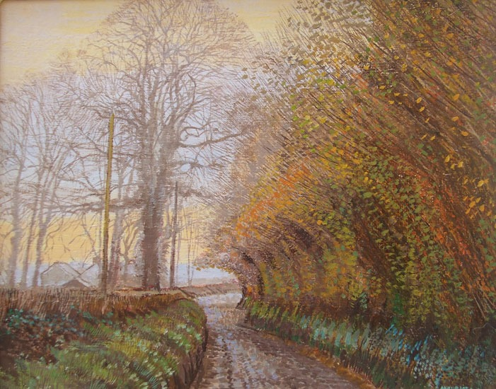 Maurice Sheppard - Hazel and Ash, Crowhill, Pembrokeshire - Oil and Linen on Board - 6.25 x 8 inches