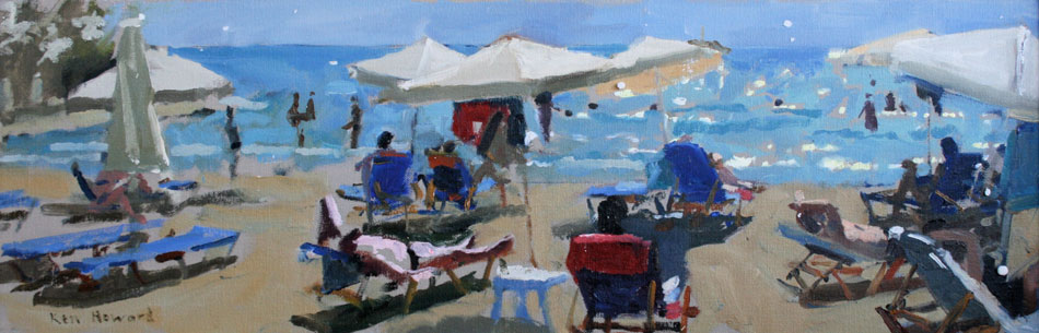 Ken Howard - Almyros Morning Light - Oil on Canvas - 24 x 8 inches