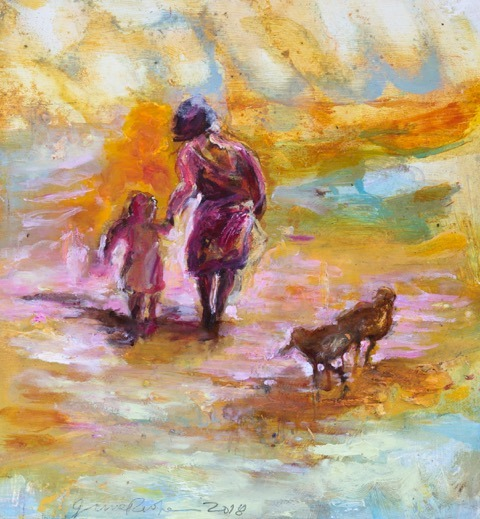 June Redfern - Me and You - Oil - 9.5 x 9.5