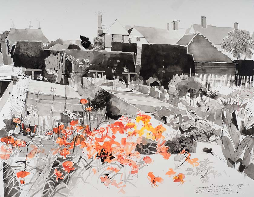 Louis Turpin - Nursery Beds - Indian Ink - 24 x 31 inches
