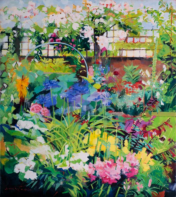 Louis Turpin - The Artist's Garden - Oil - 18 x 16 inches