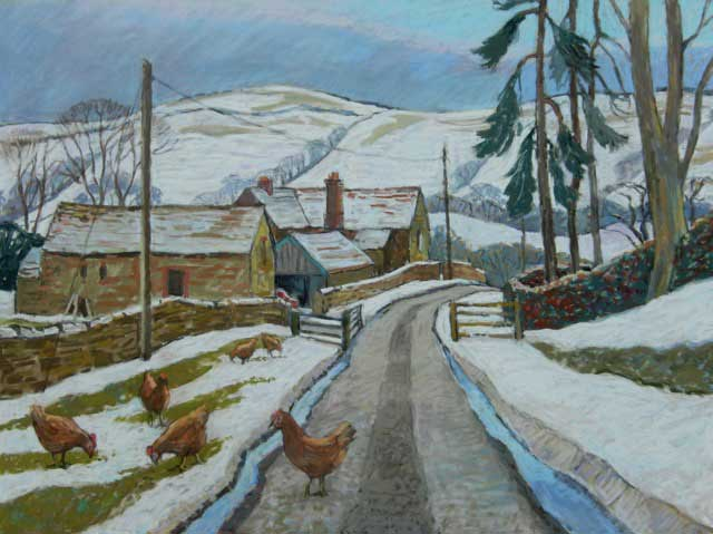 Martin Eldridge - Willstone Farm - Pastel - 29 x 26 inches