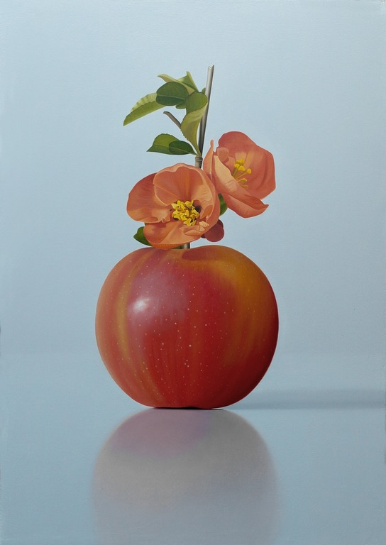 Michael de Bono - Apple with Blossom - Oil - 13.5 x 9 inches