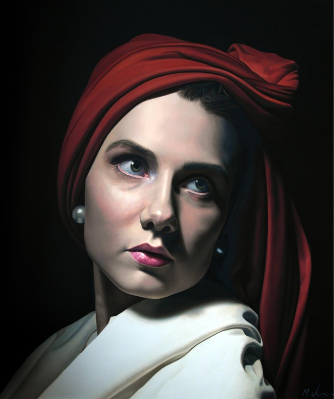 Michael de Bono - Pearl - Oil on Board - 10 x 11 inches