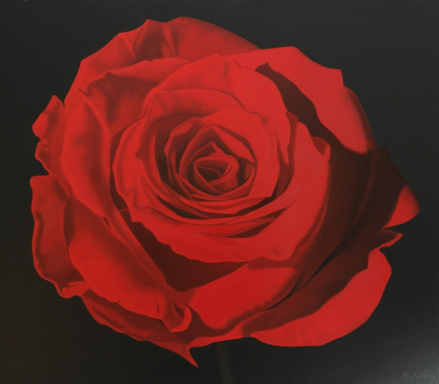 Michael de Bono - Red Rose - Oil - 11.5 x 13.5 inches