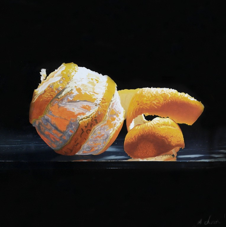 Michael de Bono - Orange with Peel - Oil - 11.5 x 11.5 inches