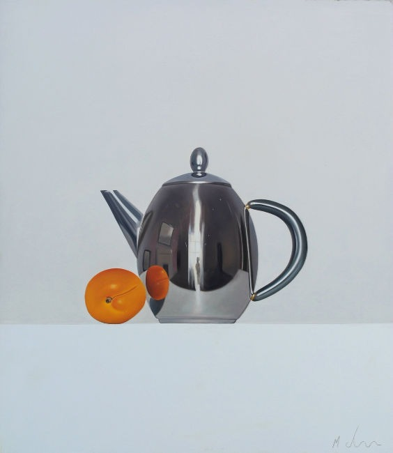 Michael de Bono - Apricot and Kettle - Oil - 14 x 15.5 inches