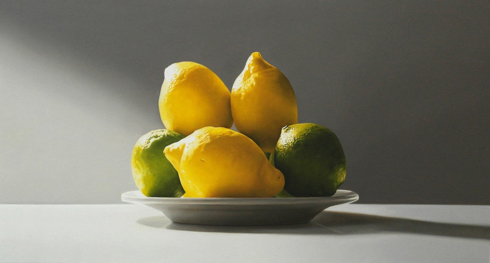 Michael de Bono - Lemons and Limes - Oil - 7 x 14 inches