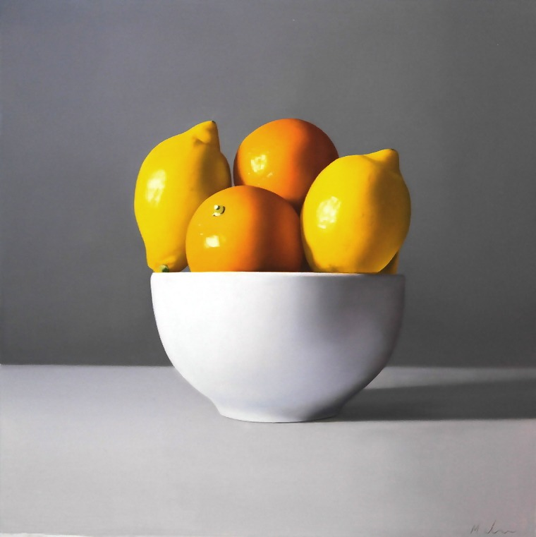Michael de Bono - Oranges and Lemons - Oil - 12 x 10.5 inches