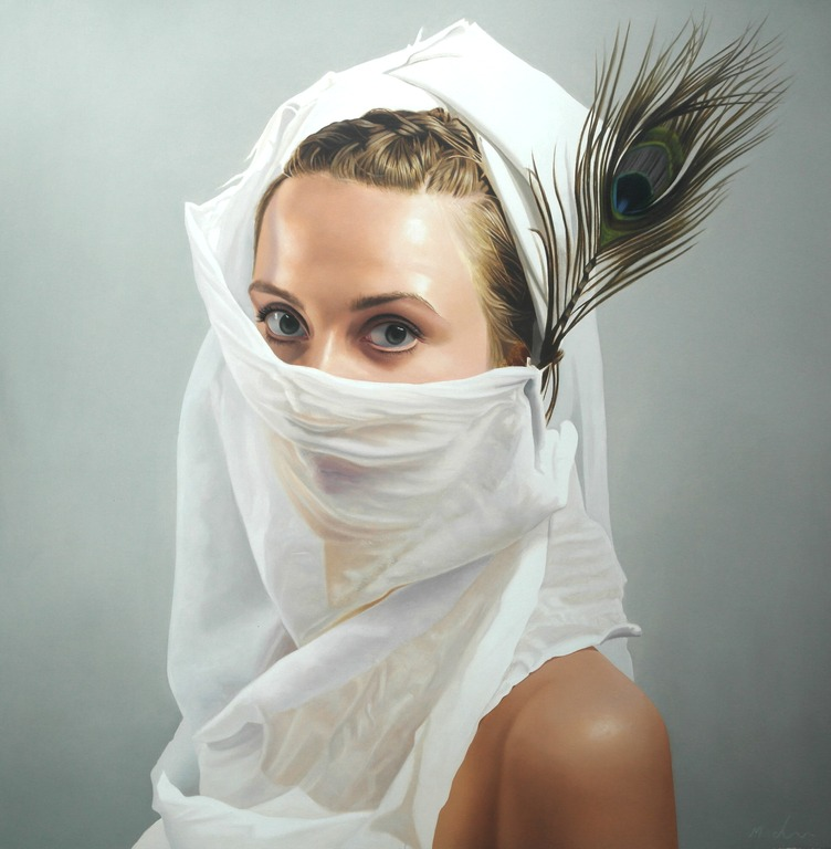 Michael de Bono - Veil - Oil - 12 x 11.5 inches