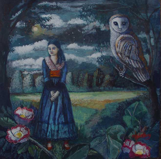 Nicola Slattery - Nocturne - Acrylic on Wood - 8 x 8 inches