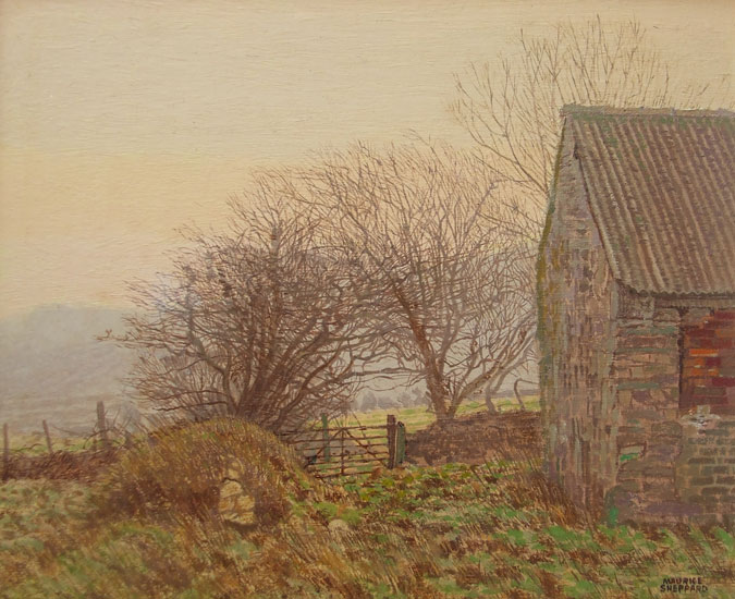 Maurice Sheppard - Over on the Mountain, Brynberian, N. Pembrokeshire - Oil and Linen on Board - 9.5 x 11.5 inches