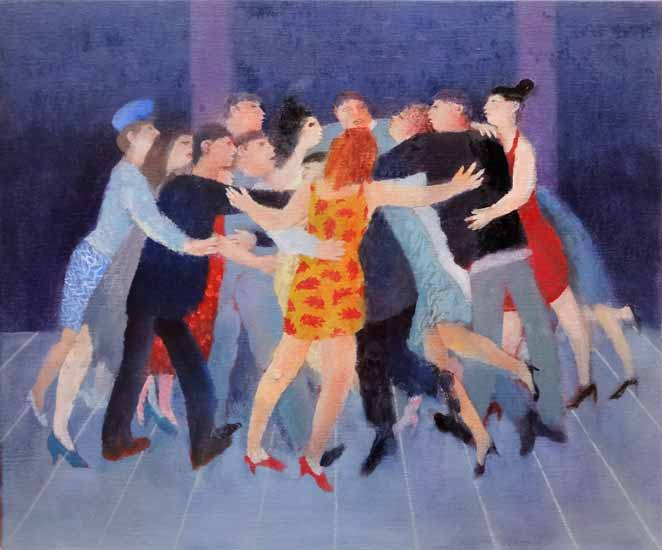 Richard Sorrell - Cluster Dance - Oil - 20 x 24 inches