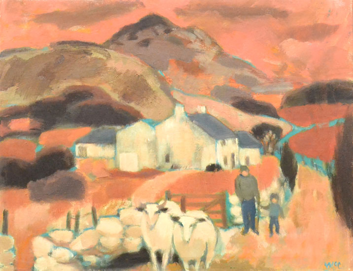 Ursula McCannell - The Road to the Farm c1990 - Oil on Canvas - 14 x 18 inches