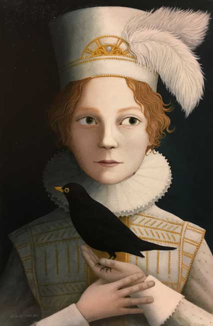 Ros Lyons - A Most Rare Boy - Oil on Board - 18 x 12 inches