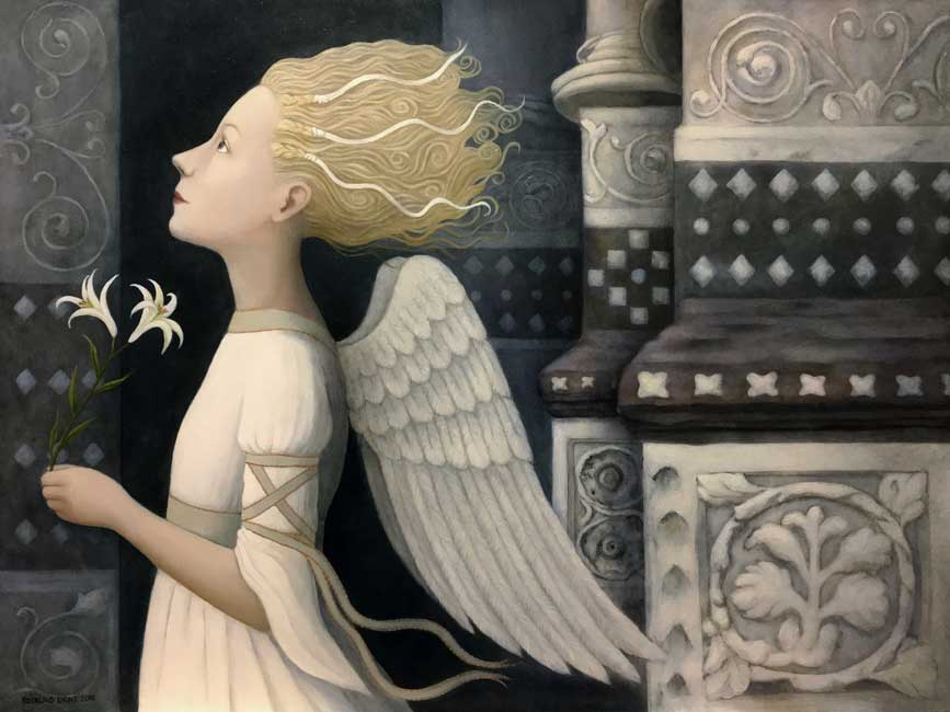 Ros Lyons - Bright Angel - Oil on Board - 24 x 18 inches