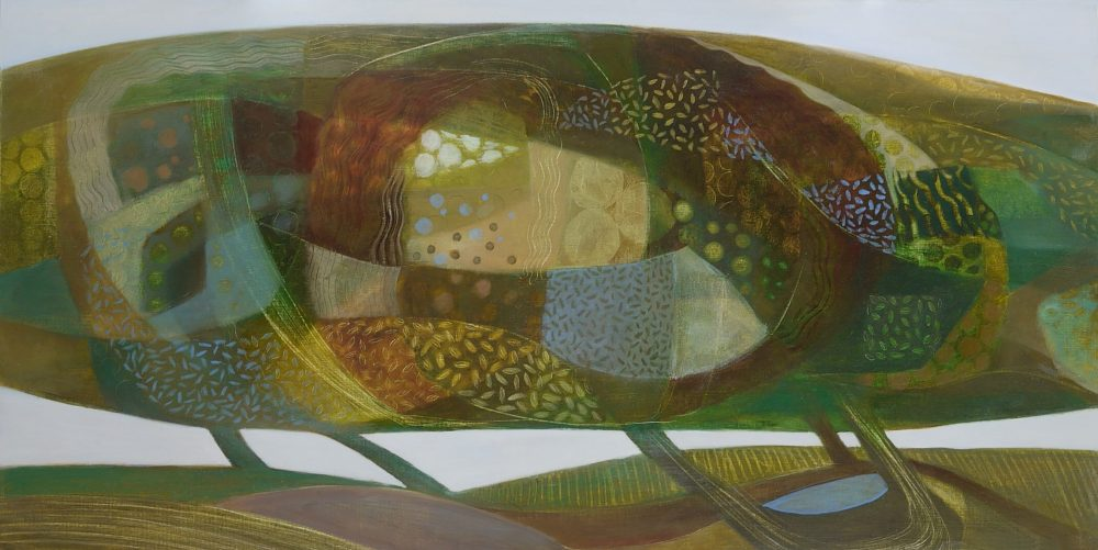 Sarah Lees - Field Maple - Oil on Panel - 10 x 20 inches