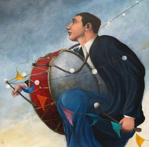 James Donovan - Stealing the Show - Acrylic on Canvas - 15.5 x 15.5 inches