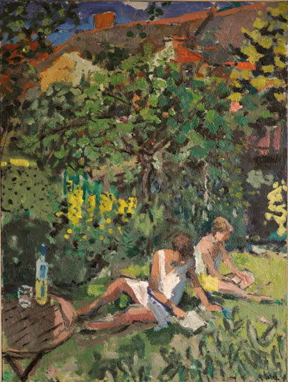 Anthony Yates - The Garden in Summer - Oil on Canvas - 40 x 30 inches