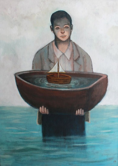 James Donovan - Vessels - Acrylic on Canvas - 21.5 x 17.5 inches