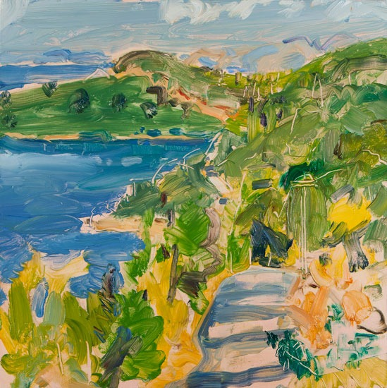 Christopher Johnson - The Walk to Alices Beach - Oil on Canvas - 23.5 x 23.5 inches