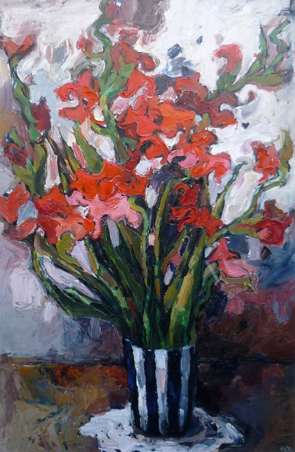 Wendy Murphy - Gladioli - Oil on Canvas - 23 x 35 inches
