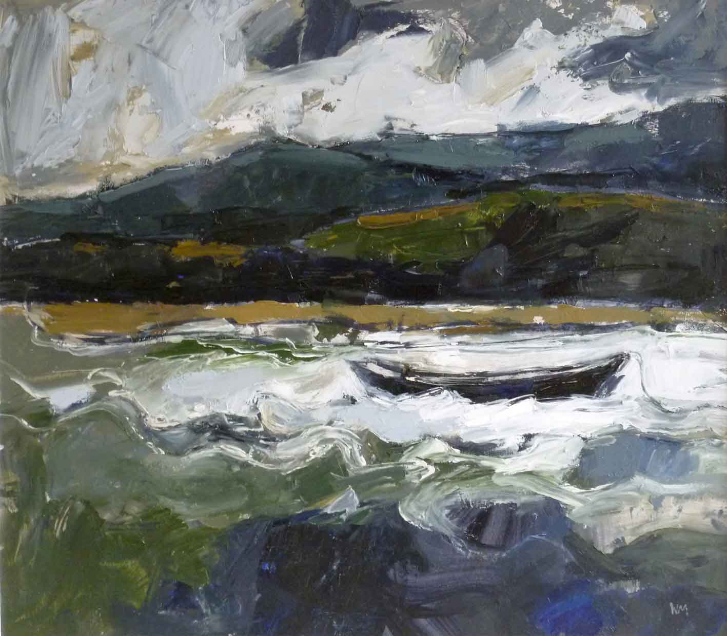 Wendy Murphy - Winter Estuary - Oil on Board - 18 x 20 inches