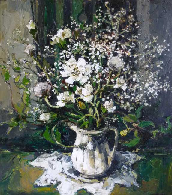 Wendy Murphy - Fifty Shades of White - Oil - 19.5 x 22 inches