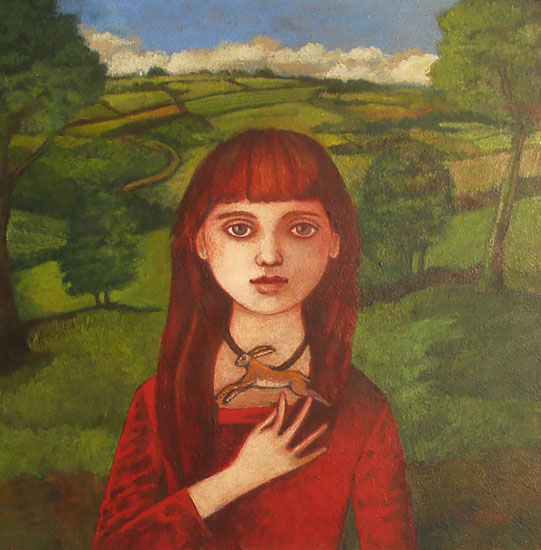 Nicola Slattery - Wild Charm - Acrylic on Wood - 8 x 8 inches