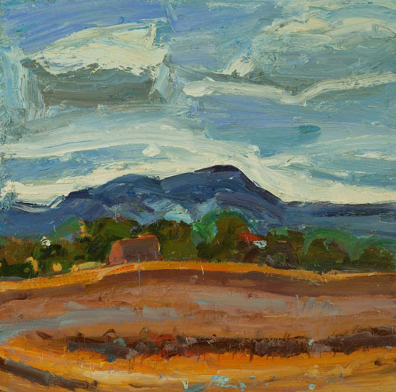 Christopher Johnson - Lazy Summer, the Malverns - Oil on Canvas - 28 x 28 inches