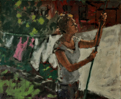 Anthony Yates - A Good Drying Day - Oil on Canvas - 17 x 21 inches