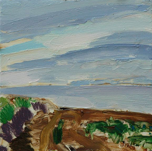 Christopher Johnson - Across the Firth - Oil on Canvas - 19.5 x 19.5 inches