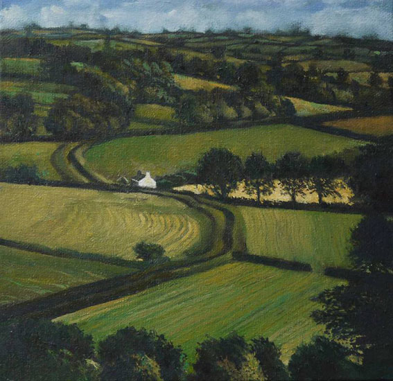 Gareth Hugh Davies - The Bright Field - Oil on Board - 8 x 8 inches
