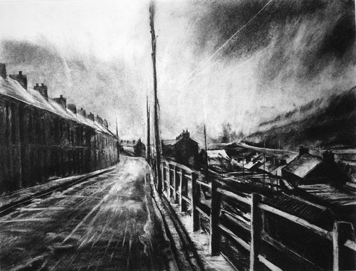 David Carpanini - Gathering Storm, Nant-y-Moel edition of 20 - Etching - 18 x 24 inches