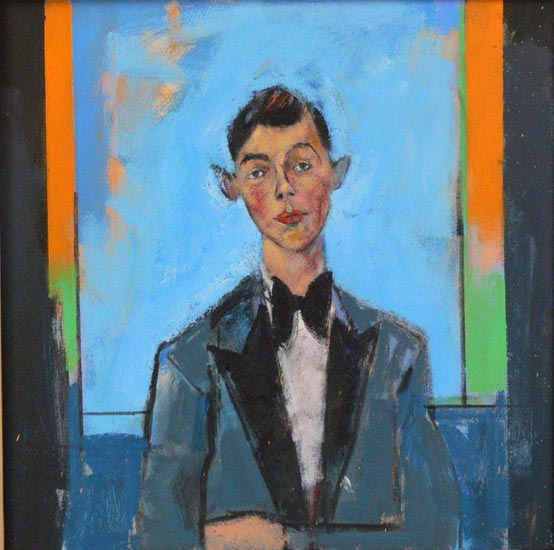 John Wragg - Is that the Waiter we saw Last Night - Oil on Canvas - 27 x 27 inches