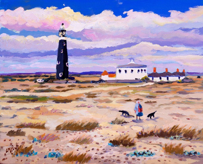 Lucy Pratt - Walk Home, Dungeness - Oil on Canvas - 16 x 20 inches