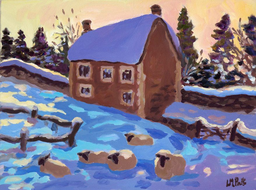 Lucy Pratt - When the Snow was Deep - Oil on Board - 12 x 16 inches
