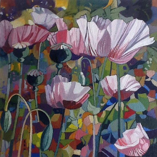 Victor Richardson - Poppies - Oil on Canvas - 6 x 6 inches