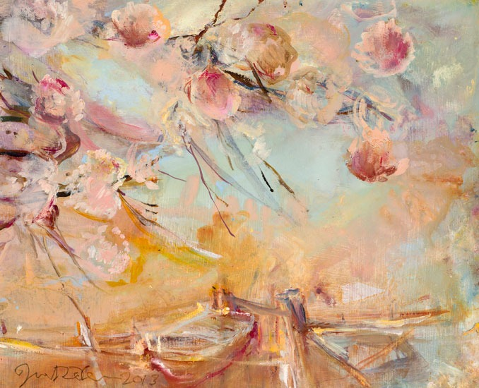 June Redfern - Spring - Oil on Board - 12 x 9.5