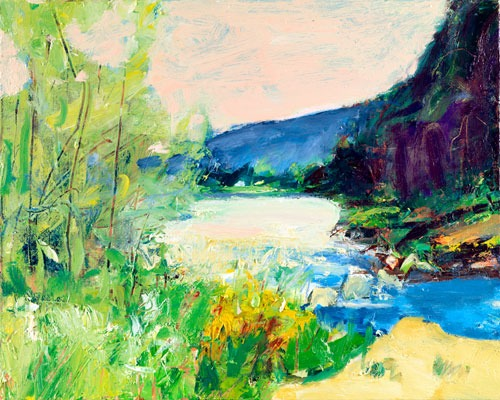 Christopher Johnson - Spring, The Dee - Oil on Canvas - 16 x 20 inches