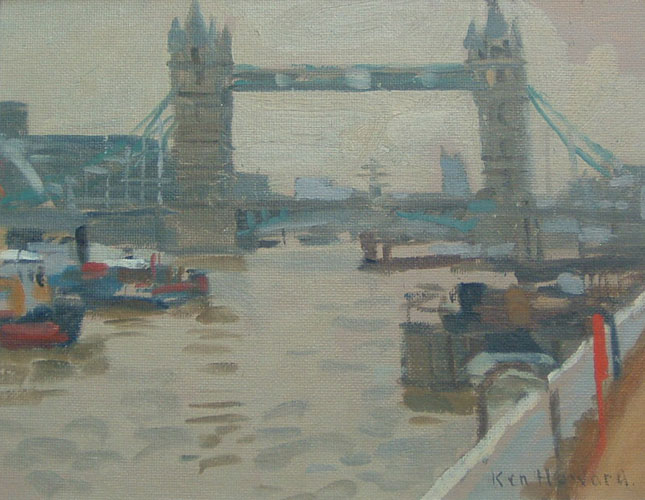 Ken Howard - Tower Bridge - Oil on Canvas - 7 x 9 inches