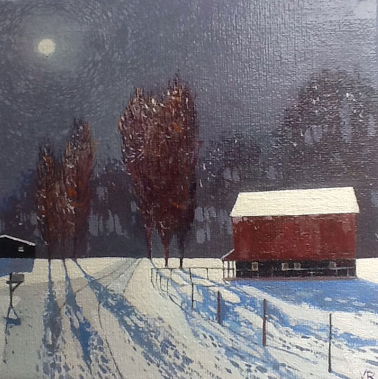 Victor Richardson - Moonshadow - Oil on Canvas Board - 6 x 6 inches