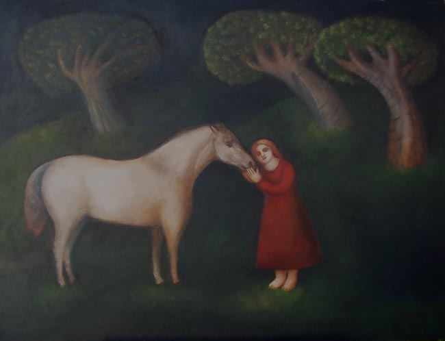Nicola Slattery - Whisper - Oil on Board - 17 x 23.5 inches