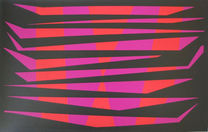William Gear - Double Stripe (1971) - Screen prints - 15 x 22 inches