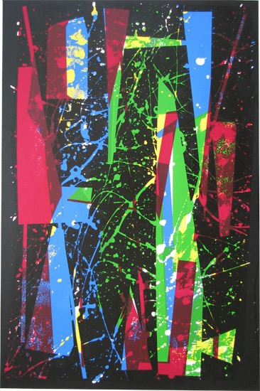 William Gear - Fireworks (1958) - Screen Print - 28 x 20 inches