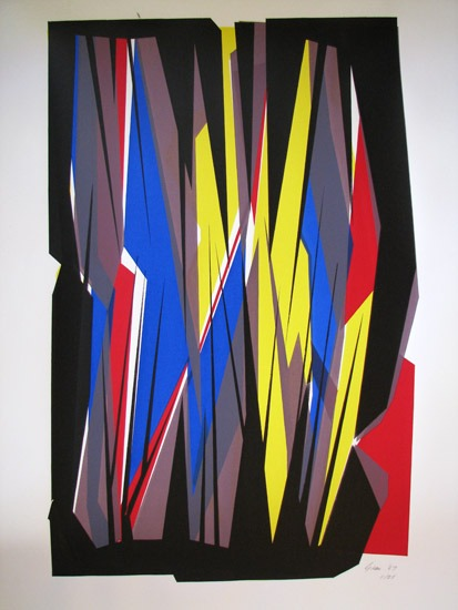 William Gear - Summer Stripes II (1967) - Screen Print - 31 x 23 inches