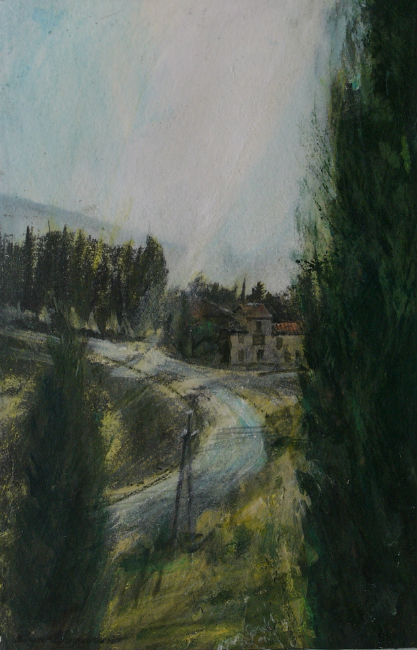 David Carpanini - Spring at the Pitiana, Tuscany - Mixed Media - 9 x 6 Inches