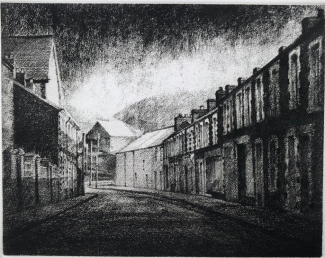 David Carpanini -  Jersey Road - Etching - 7 x 9 Inches