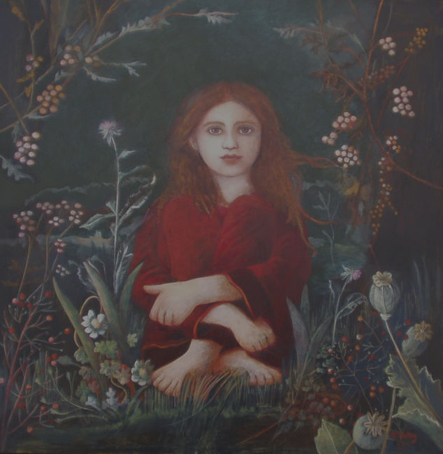 Nicola Slattery - Meditation - Acrylic on Wood - 16 x 16 inches