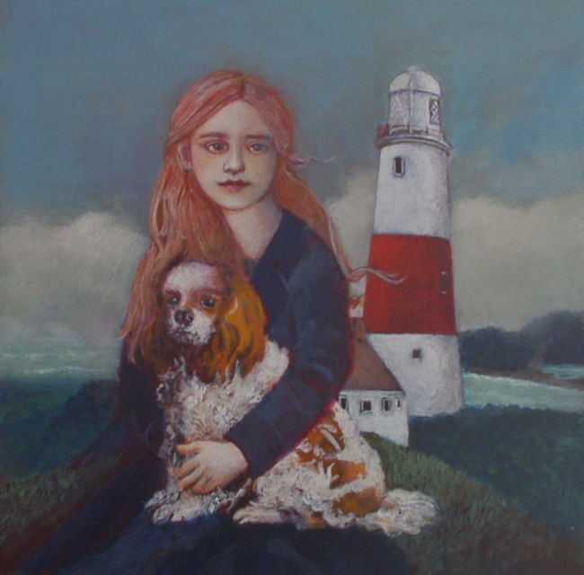 Nicola Slattery - Sea Air - Acrylic on Wood - 8 x 8 inches
